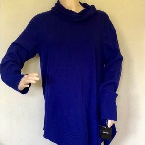 Alfani asymmetrical sweater cotton L